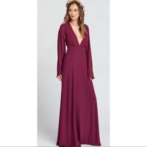 SMYM NWT Venus Long Sleeve Flare Dress Merlot M